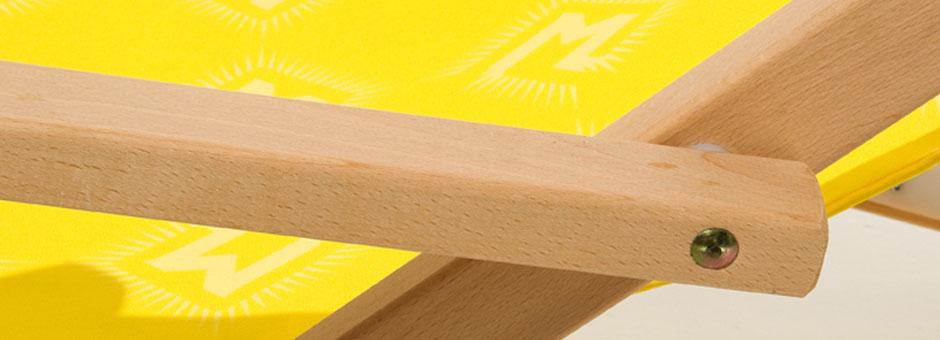 Holzliegestuhl ZUGSPITZ ohne Armlehnen