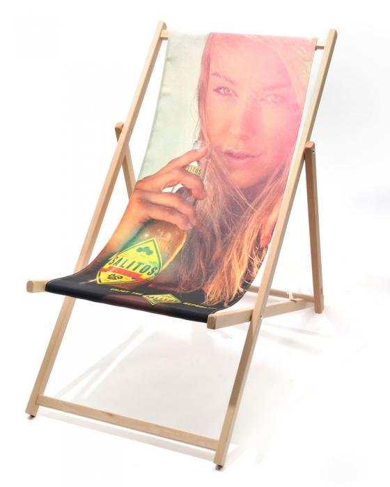Holzliegestuhl Classic ohne Armlehne