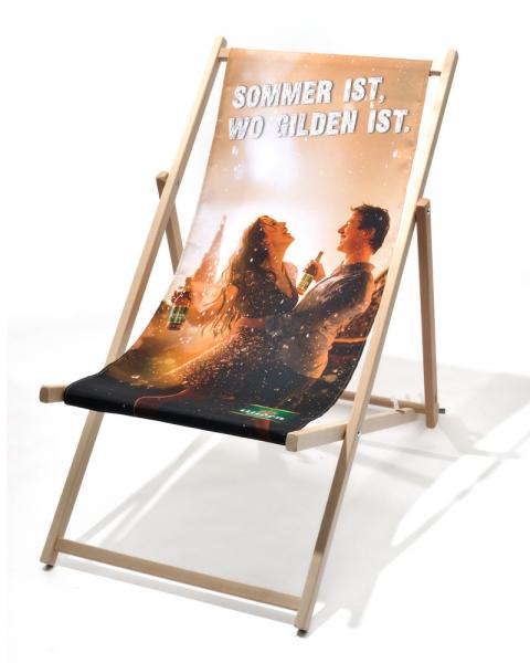 Holzliegestuhl CLASSIC mit / ohne Armlehne