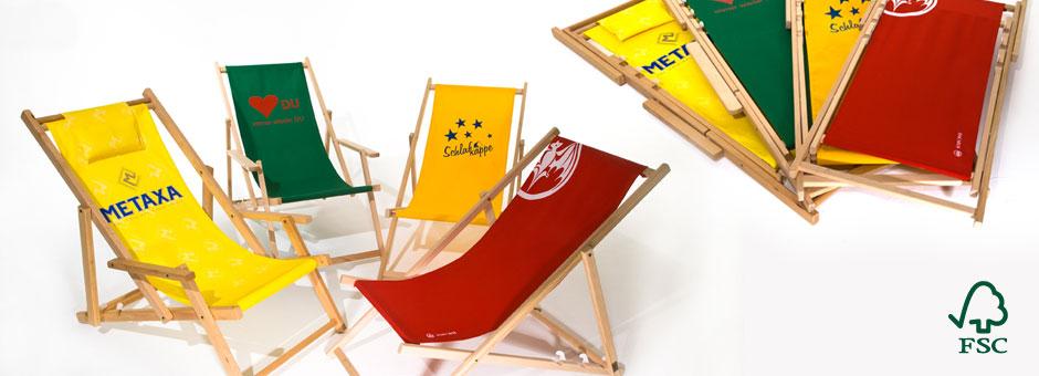 Holzliegestuhl Classic