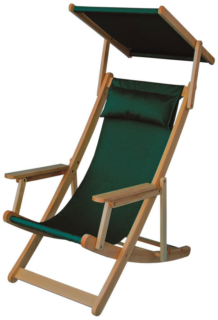 Holzliegestuhl RELAX mit Sonnendach