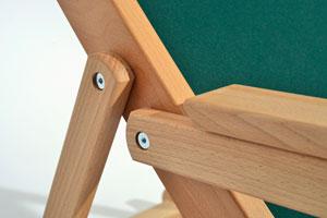 Holzliegestuhl RELAX – Detail