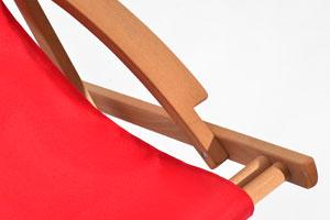 Holzliegestuhl SWING – Detail