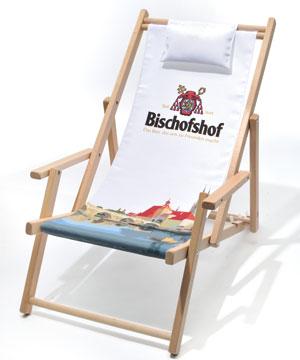 Holzliegestuhl ZUGSPITZ mit/ohne Armlehnen