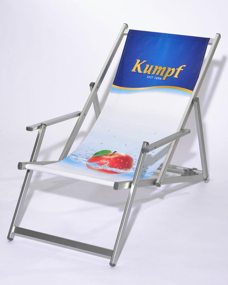 Aluminium-Liegestuhl TREND mit Armlehne