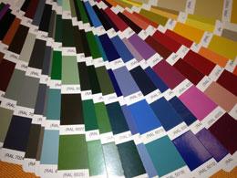 Gestelle in RAL-Farben