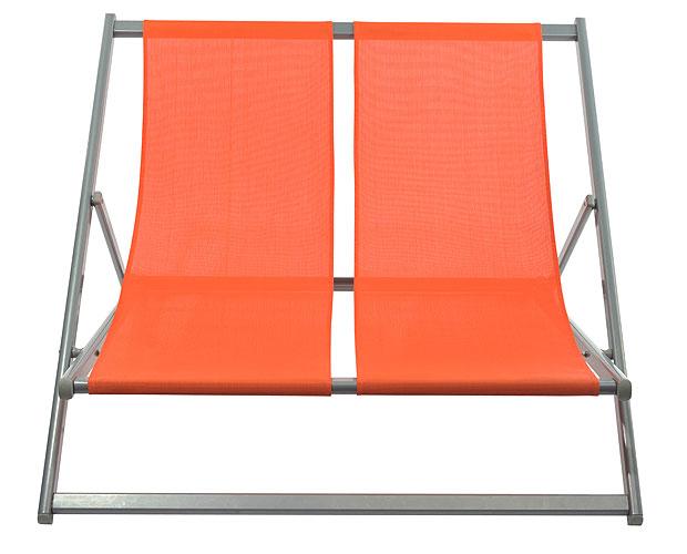 ALU-Doppelliegestuhl TREND