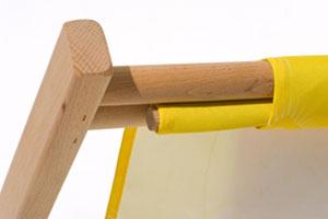 Holzliegestühle mit Wechselbezug - Holzstab